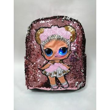 """Рюкзак мигающий """"Кукла"""" розовый"""