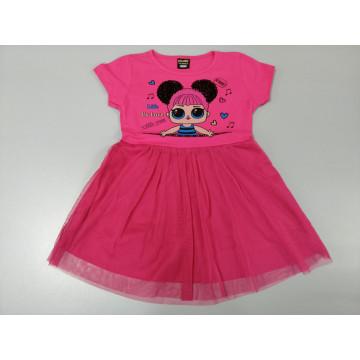 """Платье """"LOL HI BABE"""" малиновое"""