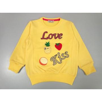 "Толстовка ""Love Kiss"" жёлтая"