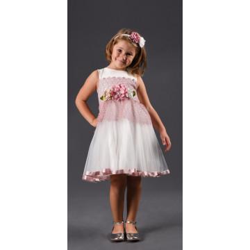 Платье Eray Kids 240 бело-лиловое