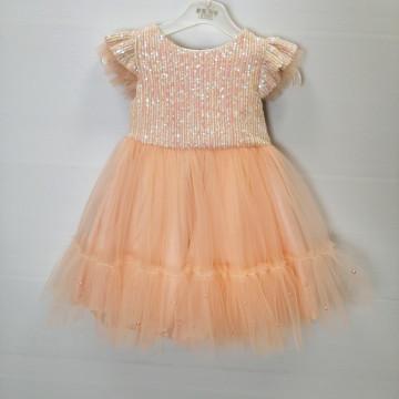 Платье Eray Kids 9068 персиковое