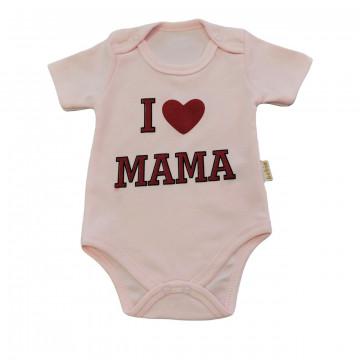 """Боди Bebio baby 4002 """"I Love Mama"""" розовое"""