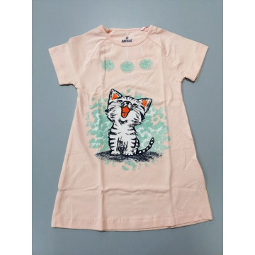 """Ночная рубашка Baykar """"HAPPY"""" персиковая"""