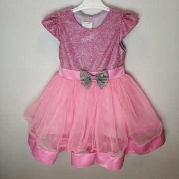 """Платье """"Бриллиантовый бант"""" розовое"""