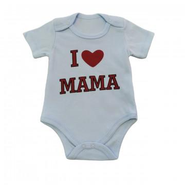 "Боди Bebio baby 4030 ""I Love Mama"" голубое"