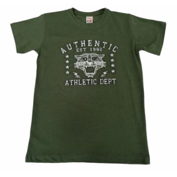 "Футболка ""EST 1982"" зеленая"