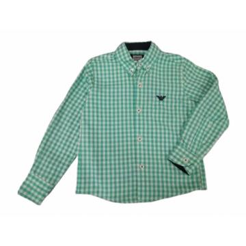 """Рубашка """"ARMANI"""" зеленая клетка"""