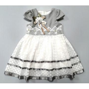 "Платье ""Серебристый цветок"""