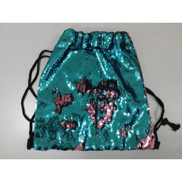 Сумка-рюкзак с пайетками-перевертышами бирюзовая