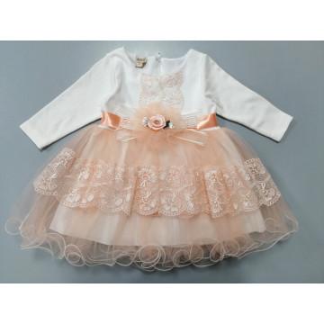 """Платье """"Воздушное кружево"""" персиковое"""
